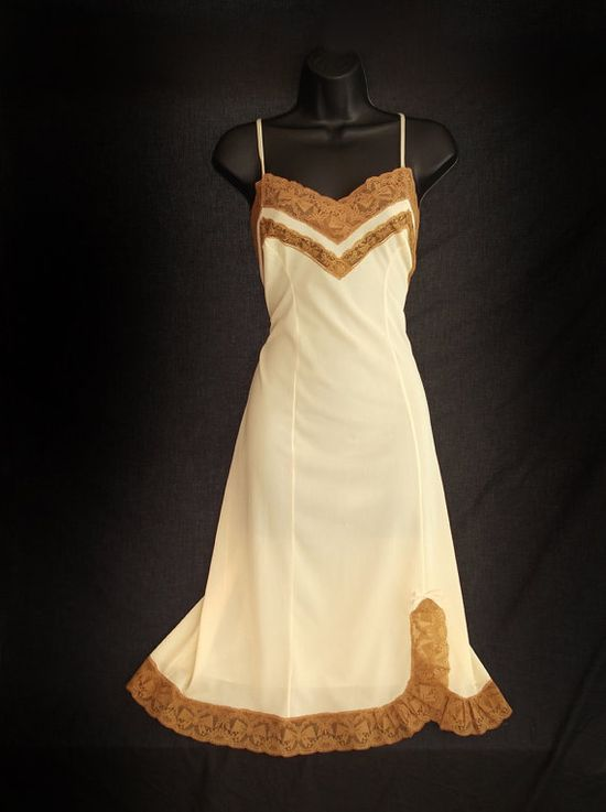 Vintage slip from Etsy. Drool.