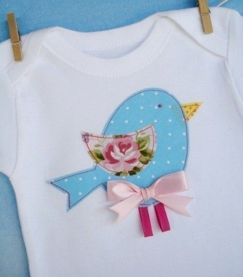 Blue bird applique