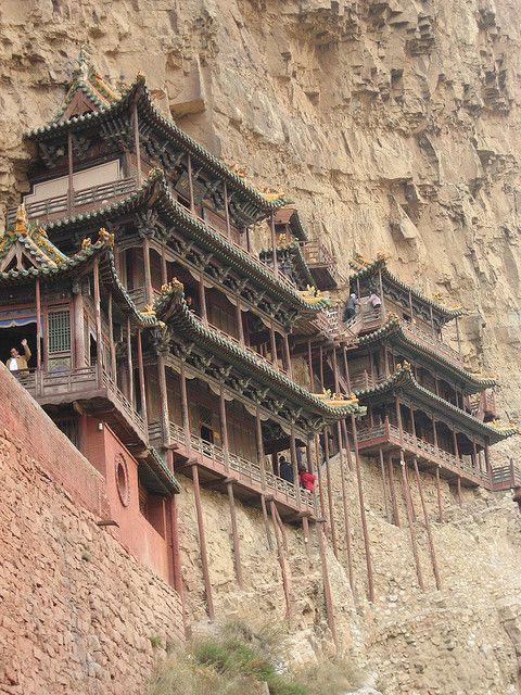 Hanging Monastery - Datong , China by bigguyoz, via Flickr