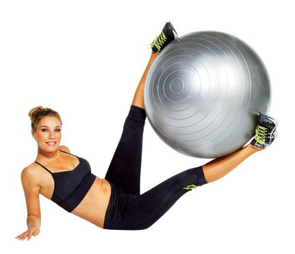Core exercises using a stability ball.