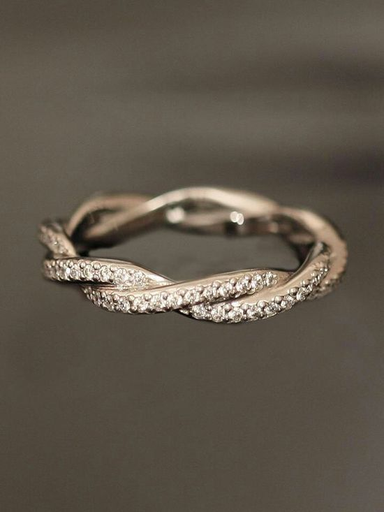 Eternity band as a wedding band