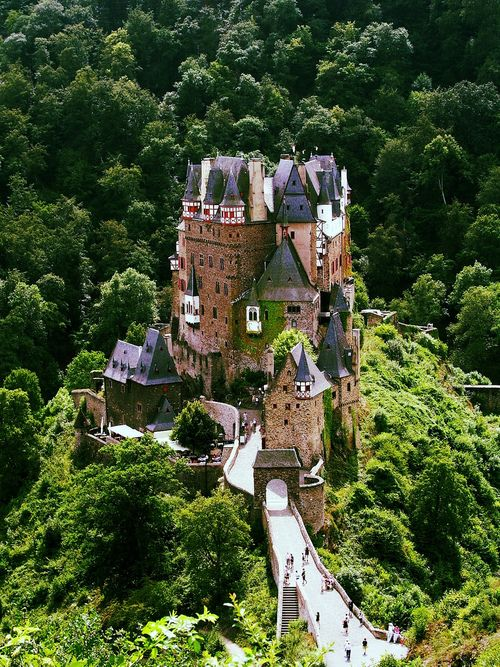 Burg Eltz, a medieval castle nestled in the hills above the Moselle River between Koblenz and Trier, Germany (by Christian Paul Stobbe)