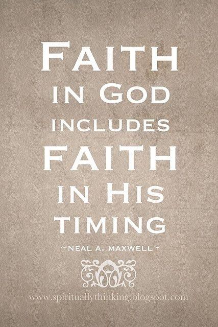 patience faith