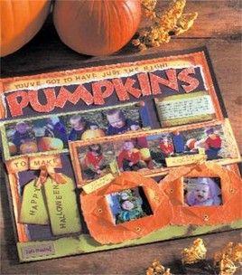 #Halloween scrapbook page idea!