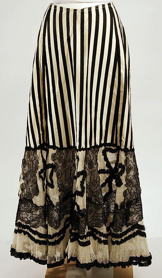 Petticoat, American, c 1900, silk. Metropolitan Museum of Art.