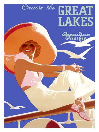 Don't mind if I do! :) #vintage #travel #poster #vacation #Canada #Canadian #Great #Lakes