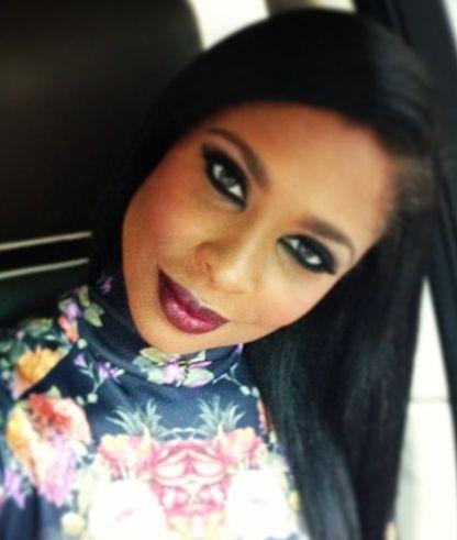 eye makeup + dark lip