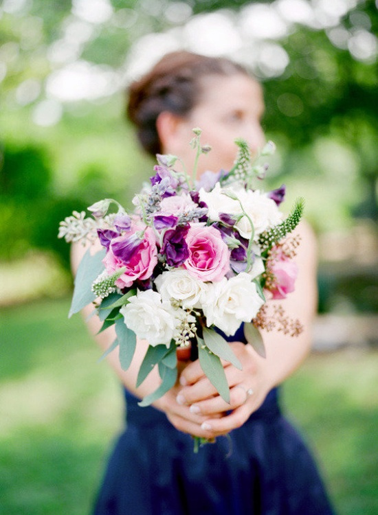 lovely bits of purple in this wild bouquet  Photography by KrystleAkin.com, Floral Design by lateedaflowers.com