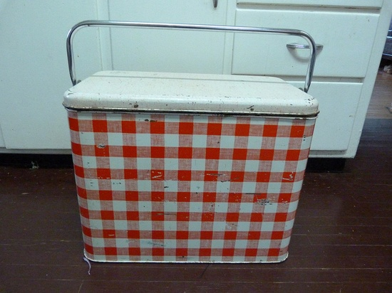 Vintage picnic cooler
