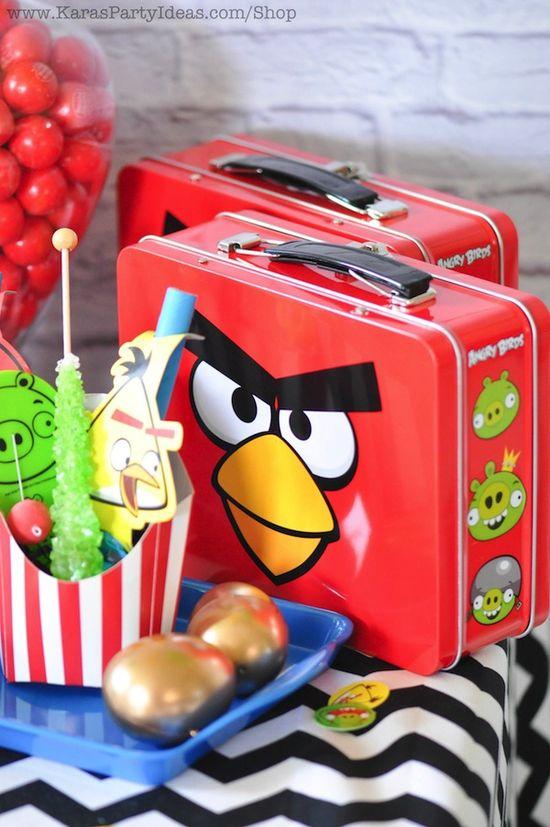 Angry Birds birthday party via Kara's Party Ideas karaspartyideas.com #angry #birds #party #ideas #supplies