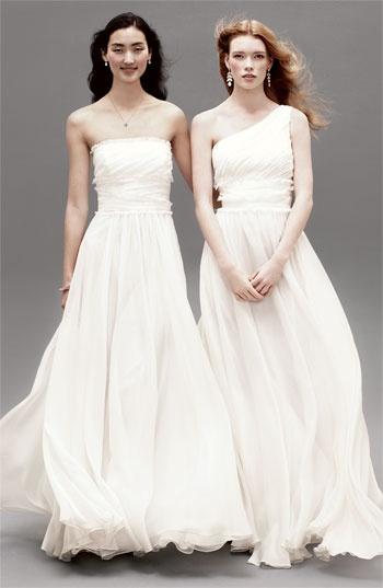 ML Monique Lhuillier Bridesmaids Chiffon One Shoulder Gown (Nordstrom Exclusive) #wedding