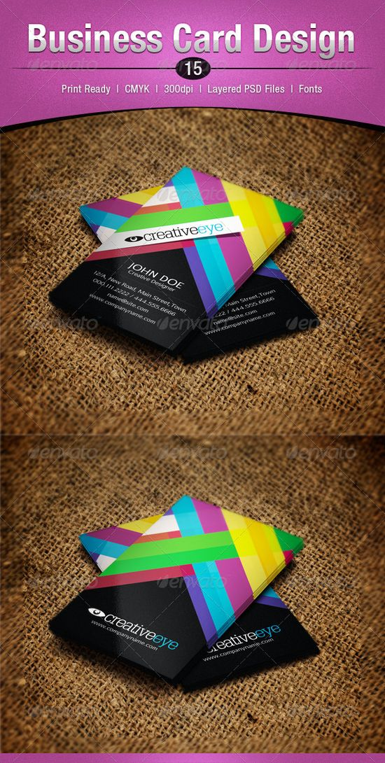 Colorful business card design - #graphic #design