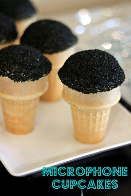 Microphone cupcakes #cupcakes #microphone #rockstar