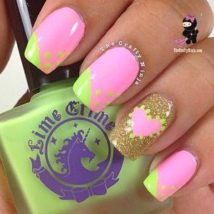 Pink #nail art #nails www.finditforwedd...