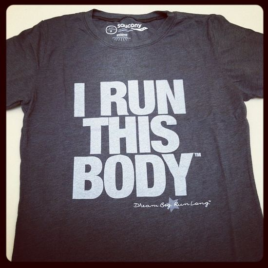 """I Run This Body"" t-shirt from @mileposts!"