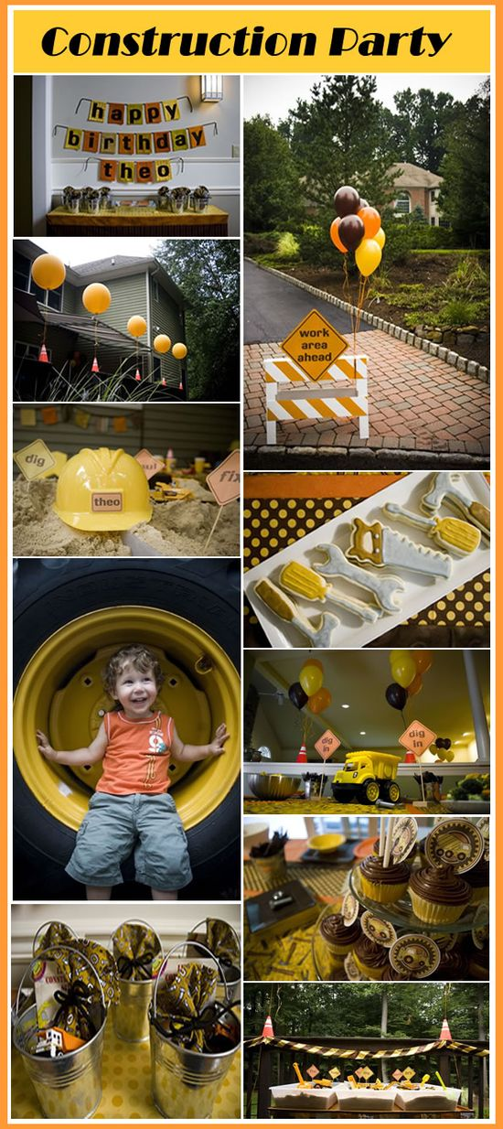 cool ideas for a construction party