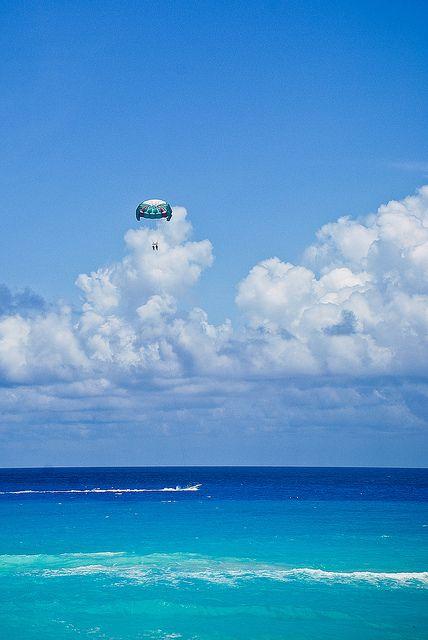 Parachute above Cancun