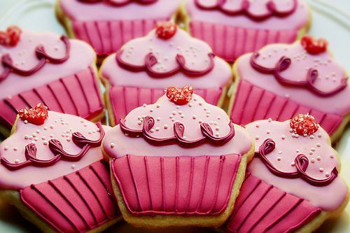 Pretty Pink cupcake cookies!
