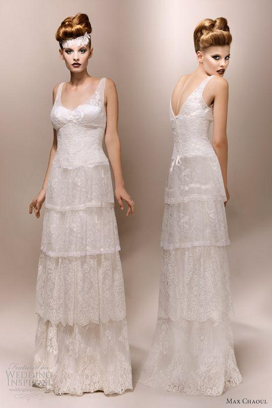 max chaoul bridal 2013 gloria 1930s lace wedding dress