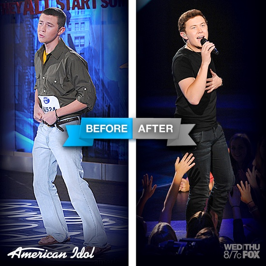 Scotty before and after his American Idol journey!