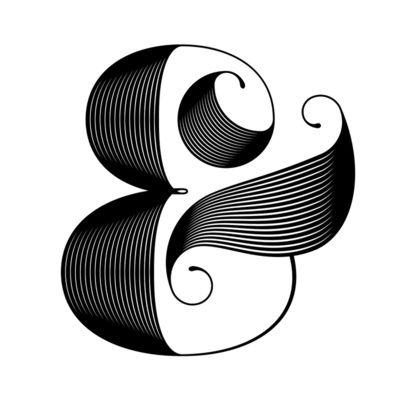 Ampersand line work