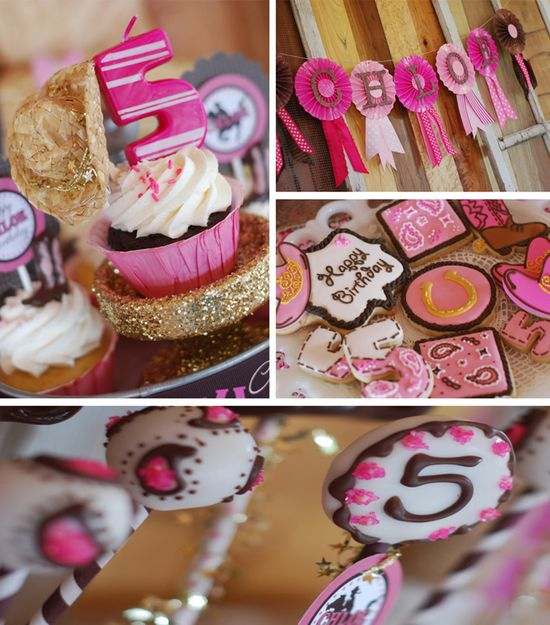 Cowgirl Princess Fifth Birthday Party with LOTS of cute Ideas via Kara's Party Ideas