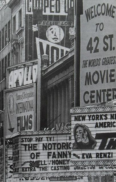 1968 Times Square, 42nd Street, New York City, vintage photography inspiration.  #inspiration #photography #NYC #black