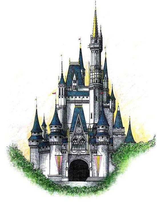 Walt Disney World Cinderella Castle Drawing  - Walt Disney World Cinderella Castle Fine Art Print