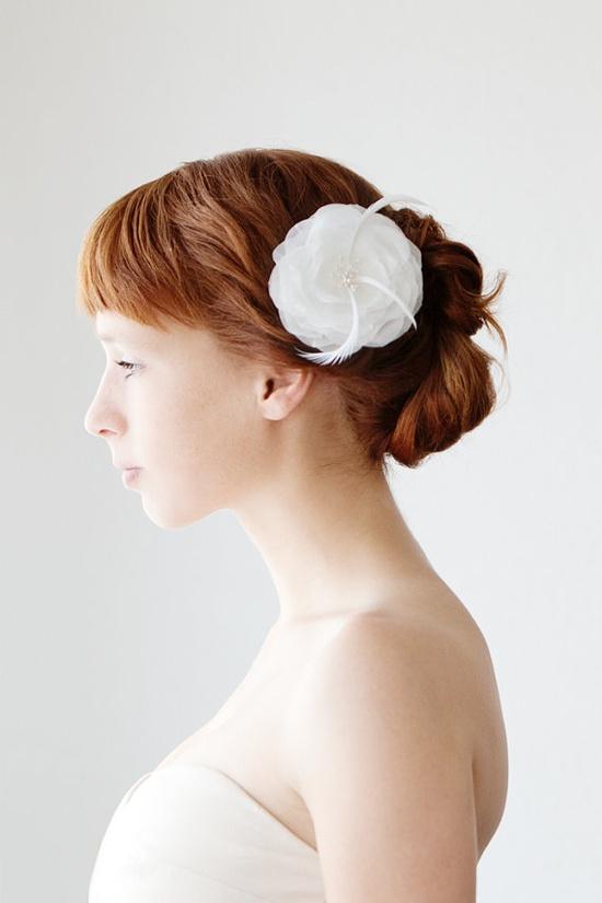 whimsical petals bridal hair piece