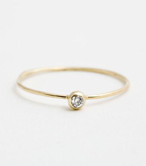 thin diamond ring, simplicity