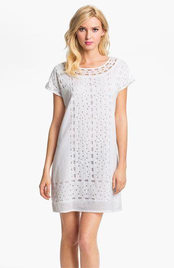 MICHAEL Michael Kors Eyelet Shift Dress available at #Nordstrom