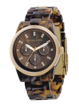 michael kors tortoise watch...I'd really love this.