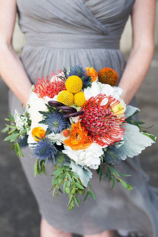 Bright, eclectic bouquet