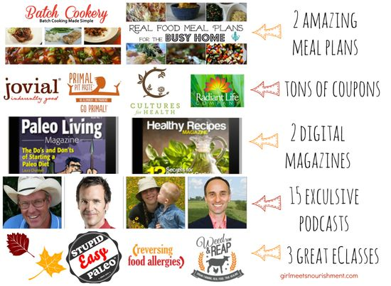 Fall Into Health Download Package - 90 Items for ONLY $39! ($2000 Value) - Girl Meets Nourishment