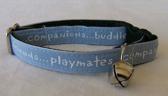 Cat collar Pals and more Blue by cosmiccollars on Etsy, $10.00