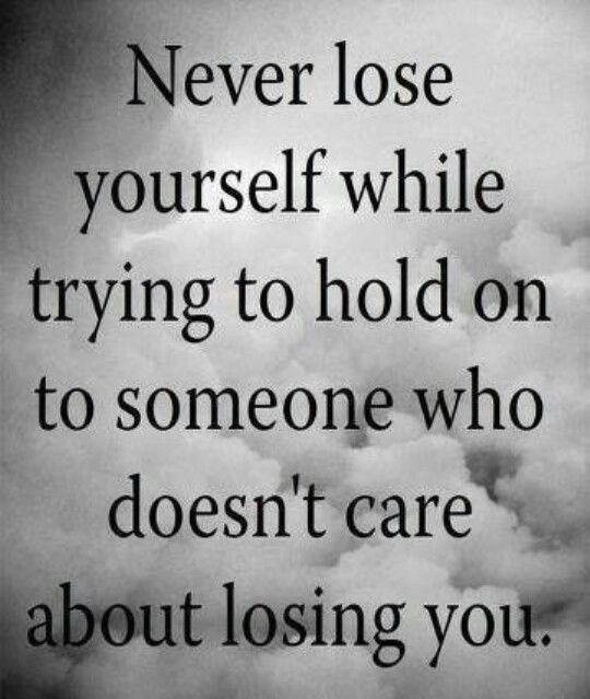 Never lose yourself!