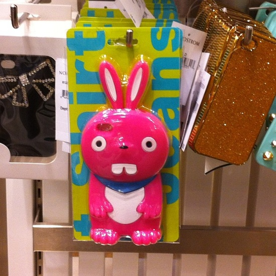 Pink bunny iPhone cover. by chez loulou, via Flickr