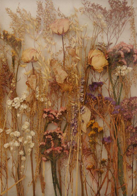 Beautiful dried flower arrangement!