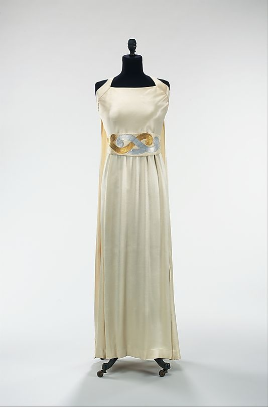 Dress, Evening  House of Lanvin  (French, founded 1889)  Designer: Jeanne Lanvin (French, 1867–1946) Date: spring/summer 1937 Culture: French Medium: silk, leather