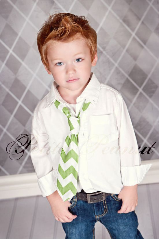 Little Guy Necktie Tie - CHEVRON Collection - (2T- 4T) - Baby Boy Toddler - Wedding - Photo Prop. $14.95, via Etsy.