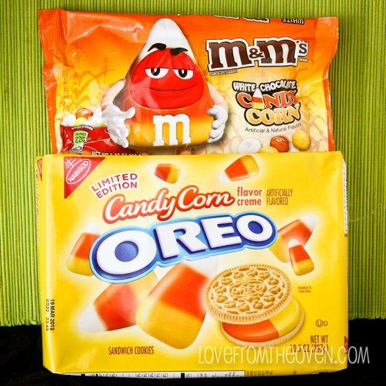 Candy Corn M's & Candy Corn Oreos