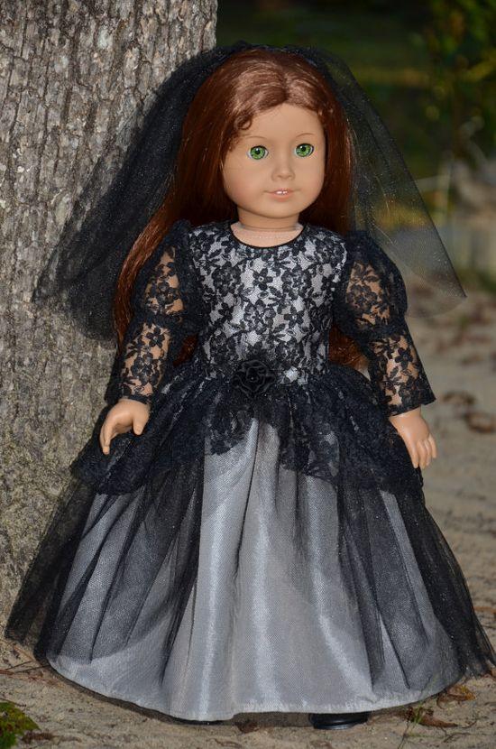 American Girl Doll Clothes    Dark Bride by Symidollsclothes, $28.00