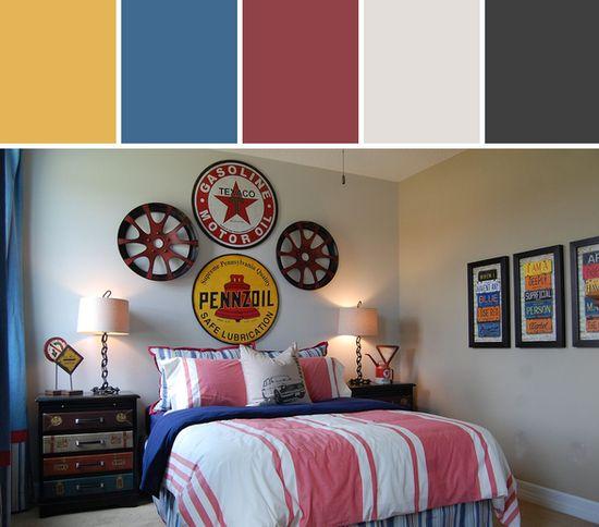 Vintage Auto Bedroom Designed By Wayfair via Stylyze