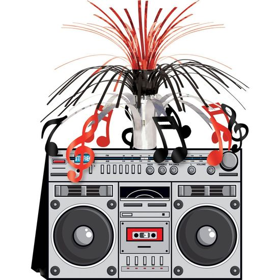 Amazon.com: Boom Box Centerpiece Party Accessory (1 count) (1/Pkg): Toys & Games