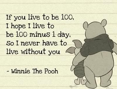 This is one of my favorite sayings of all time...I love Pooh and Piglet.  Best Friends Forever!
