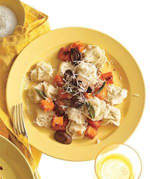 Tortellini with Butternut Squash, Mushrooms and Fontina