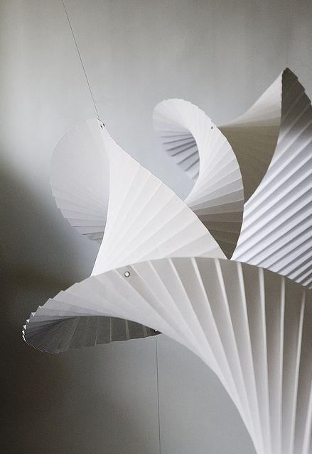 pleated paper sculpture Richard Sweeney