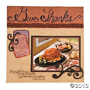 """Give Thanks"" scrapbook page idea"