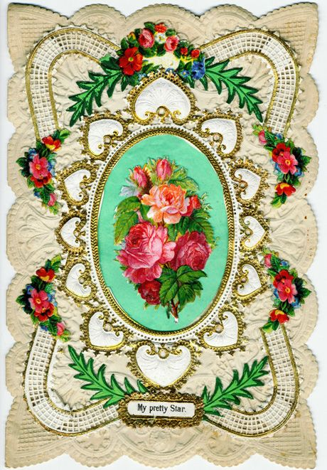 Victorian valentines, so exquisite and so much work.  Really lovely.