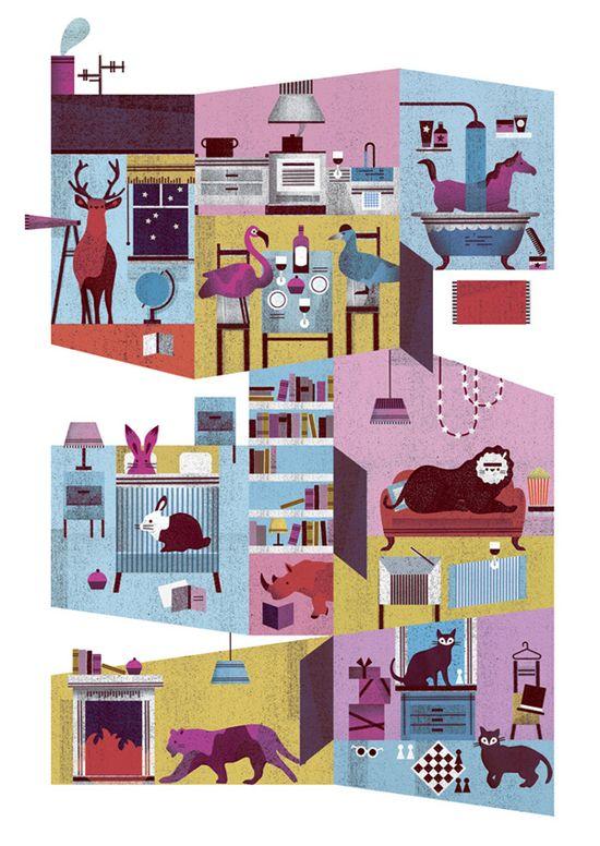 Let's Get Retro Happy: Illustrations by Lotta Nieminen